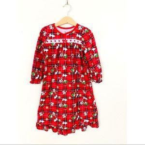 Disney Minnie Mouse Christmas Pajama Nightgown 4T